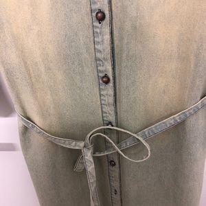 Jackets & Coats - Denim shirt dress/coat